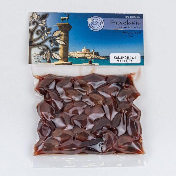 Kalamon mustad oliivid 150g